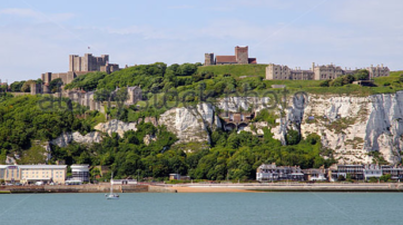 Cliffs, with Castle at top left